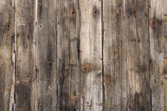 Wood Texture. Brown Weathered Wood fence background Royalty Free Stock Image