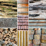Wood texture collage. Stock Photography