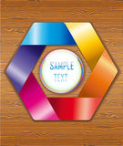Wood texture with colorful ribbons. Illustration 10 version Stock Photos