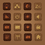 Wood texture computer buttons eps10 Stock Images