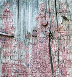 Wood texture with cracked paint Stock Images