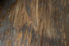 Dark Vertical Curved Wood Texture Background royalty free stock image