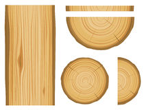 Wood texture and elements vector illustration
