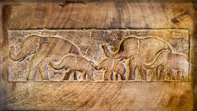 Wood texture of elephant. Close up shot of wood texture of elephant Stock Images