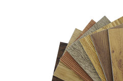 Wood texture floor:oak tile, balsam tile,   Samples of laminate. Interior chooses wood texture tile; oak tile, maple tile, chestnut tile, walnut tile, balsam Stock Photo