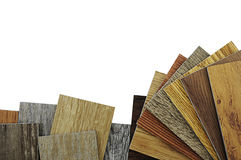Wood texture floor. Samples of laminate and vinyl floor tile on Royalty Free Stock Image