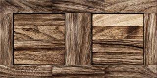 Wood Texture - Fragment of old parquet floor Stock Photo