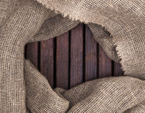 Wood texture. Frame textiles. Royalty Free Stock Photos