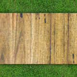 Wood texture on grass. Background Royalty Free Stock Photos