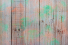 Wood texture with green orange Stock Images