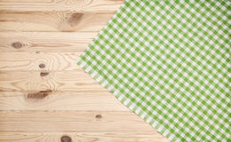 Wood texture and green textile background Royalty Free Stock Photo
