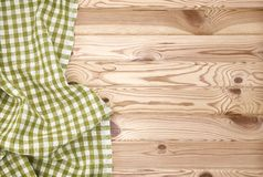 Wood texture and green textile background texture Royalty Free Stock Photography