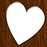Wood texture with heart Stock Images