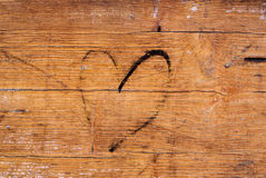 Wood texture with heart Royalty Free Stock Photo