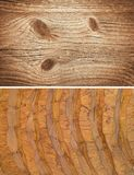 Wood texture. Lining boards wall. set. Wooden background. pattern. Showing growth rings stock images