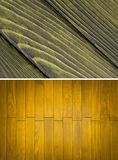 Wood texture, wall. Wood texture. Lining boards wall. set. Wooden background. pattern. Showing growth rings Stock Photography