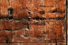 Wood texture with lock. Wooden antique door texture Royalty Free Stock Images