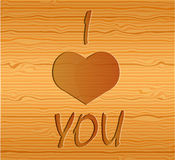 Wood texture with love. Stock Photos