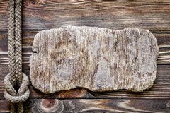 Wood texture with marine knot Royalty Free Stock Images