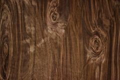 Wood texture, natural dark brown vintage wooden background stock image