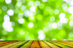 Wood texture and natural green background Stock Photo