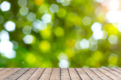 Wood texture and natural green background Royalty Free Stock Images