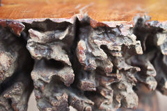 Wood texture. On the old chair Stock Photography