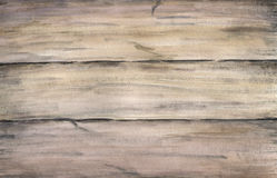 Wood texture with old painted boards. Watercolor hand drawing artistic realistic illustration for design, background. Textile Royalty Free Stock Images