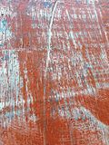 Wood texture. On an old red table stock photos
