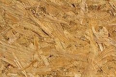 Wood texture. OSB wooden pressed board of oriented strand for ba Stock Photo