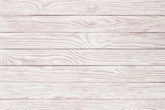 Wood texture painted with whitewash, empty wooden surface as a b. White wood texture, bright plank surface table Stock Photo