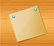 Wood texture with paper. Royalty Free Stock Photos