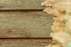 Wood texture with paper Stock Images