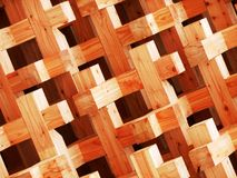 Wood texture. Pavilion facade in Milan Expo 2015 royalty free stock photo