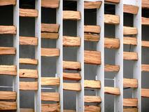 Wood texture. Pavilion facade in Milan Expo 2015 stock photos