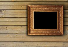 Wood texture with picture frame Royalty Free Stock Images