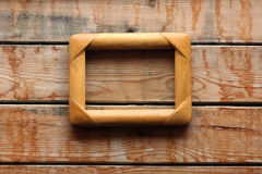 WOOD TEXTURE WITH PICTURE FRAME Stock Images