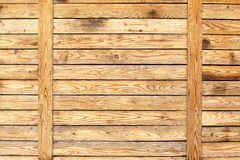 Wood texture plank panel background. Wood plank panel wall with natural wood grain texture background Stock Image