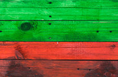 Wood texture of red and green. Colors Royalty Free Stock Image