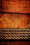 Wood texture and ropes Stock Photo