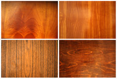 Wood texture set Royalty Free Stock Photography