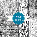 Wood texture set. Seampless pattern. Vector eps 10 Stock Photo