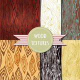 Wood texture set. Seampless pattern. Vector eps 10 Royalty Free Stock Photo