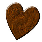 Wood texture in the shape of a heart Stock Images