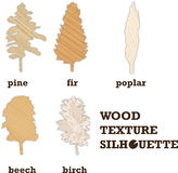 Wood texture silhouette Stock Image