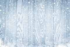 Wood texture with snow christmas background Royalty Free Stock Photography