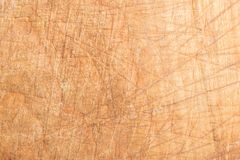 Wood texture, surface of a cutting board made of beech has many scratches Stock Photos