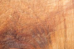 Wood texture, surface of a cutting board made of beech has many scratches Stock Photography