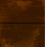 Wood texture template. Vector illustration. Brown wood. Grunge style. Stock Photos