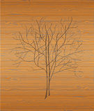Wood texture with tree. Royalty Free Stock Photos